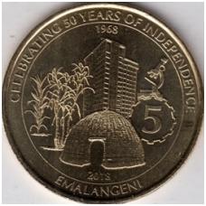 SVAZILENDAS 5 EMALANGENI 2018 KM # new UNC 50 m. NEPRIKLAUSOMYBEI