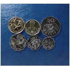 Svazilendas 6 monetų rinkinukas 2005 - 2010