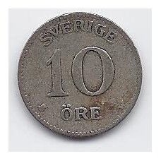 ŠVEDIJA 10 ORE 1915 KM # 780 F