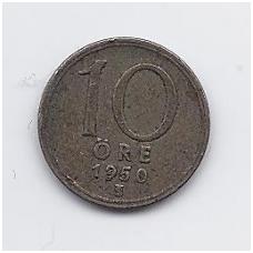 ŠVEDIJA 10 ORE 1950 KM # 813 VF