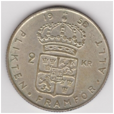 ŠVEDIJA 2 KRONOR 1958 KM # 827 VF