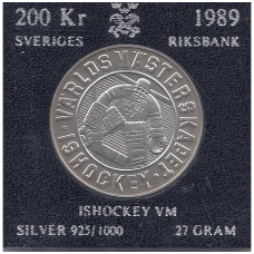 ŠVEDIJA 200 KRONER 1989 KM # 869 AU LEDO RITULYS