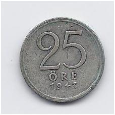 ŠVEDIJA 25 ORE 1943 KM # 816 VF