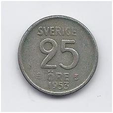 ŠVEDIJA 25 ORE 1953 KM # 824 VF