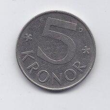 ŠVEDIJA 5 KRONER 1989 KM # 853 VF