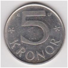 ŠVEDIJA 5 KRONER 1991 U KM # 853 XF