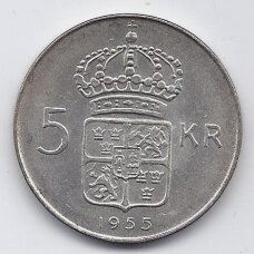 ŠVEDIJA 5 KRONOR 1955 KM # 829 XF