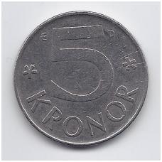 ŠVEDIJA 5 KRONOR 1992 KM # 853 VF