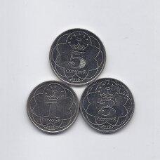 TADŽIKISTANAS 2018 m. 3 monetų rinkinys