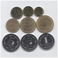 TADŽIKISTANAS 2019 m. 9 monetų rinkinys