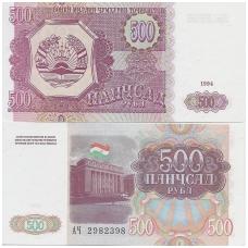 TADŽIKISTANAS 500 ROUBLES 1994 P # 8 AU
