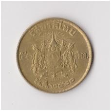 TAILANDAS 50 SATANG 1957 Y # 81 VF