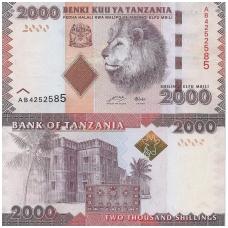 TANZANIJA 2000 SHILLINGS ND (2010) P # 42 UNC