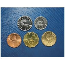 Tanzanija 5 monetų rinkinukas 1976 - 1992