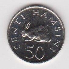TANZANIJA 50 SENTI 1989 KM # 26 AU