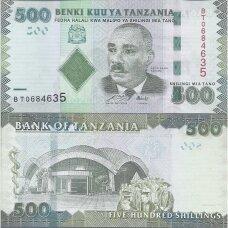 TANZANIJA 500 SHILLINGS 2010 (2011) P # 40 XF