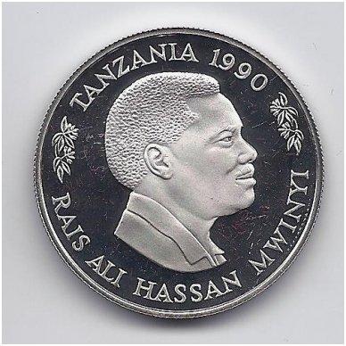 """TANZANIJA 100 SHILLINGS 1990 KM # 24 PROOF PARAMOS FONDAS """" SAUGOKIM VAIKUS """" 2"""