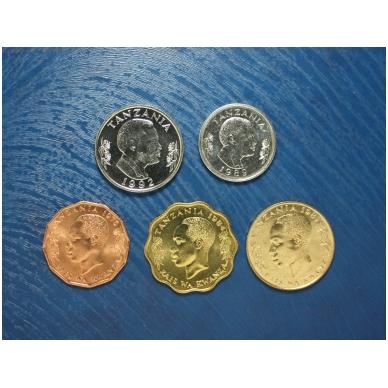 Tanzanija 5 monetų rinkinukas 1976 - 1992 2