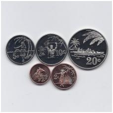 TOKELAU 2012 m. 5 monetų rinkinys