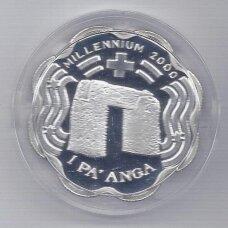 TONGA 1 PA'ANGA 1999 KM # 176 PROOF Tūkstantmetis