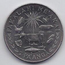 TONGA 2 PA'ANGA 1977 KM # 49 UNC FAO