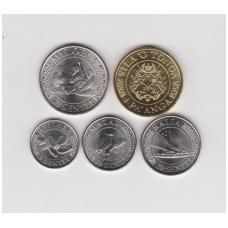 TONGA 2015 m. penkių monetų rinkinukas