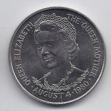 TRISTANAS DA KUNJA 25 PENCE 1980 KM # 3 AU Karalienės gimtadienis
