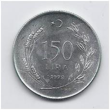 TURKIJA 150 LIRA 1978 KM # 916 UNC FAO
