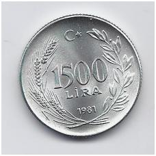 TURKIJA 1500 LIRA 1981 KM # 947 UNC FAO