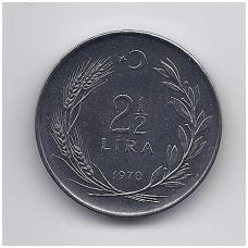 TURKIJA 2 1/2 LIRA 1970 KM # 896 UNC FAO