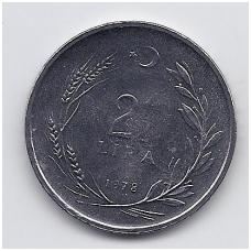 TURKIJA 2 1/2 LIRA 1978 KM # 915 AU FAO