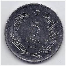 TURKIJA 5 LIRA 1976 KM # 909 UNC FAO