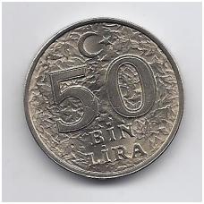 TURKIJA 50 BIN LIRA 1996 KM # 1050 UNC FAO