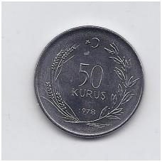TURKIJA 50 KURUS 1978 KM # 913 UNC FAO