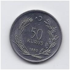 TURKIJA 50 KURUS 1980 KM # 936 UNC FAO