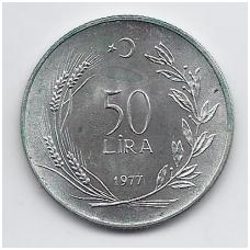 TURKIJA 50 LIRA 1977 KM # 912 UNC FAO