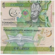 TURKMĖNISTANAS 1 MANAT 2017 P # new UNC