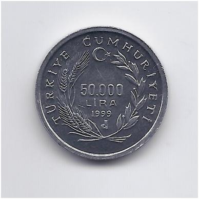 TURKIJA 50 000 LIRA 1999 KM # 1103 UNC FAO