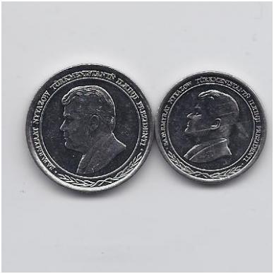 TURKMĖNISTANAS 500 ir 1000 MANAT 1999 KM # 12 - 13 UNC 2