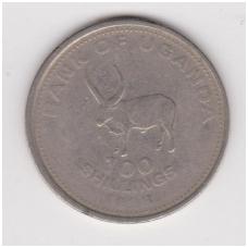 UGANDA 100 SHILLINGS 1998 KM # 67 F-VF