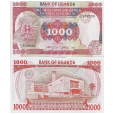 UGANDA 1000 SHILLINGS 1986 P # 26 AU