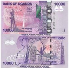 UGANDA 10000 SHILLINGS 2015 P # 52d UNC
