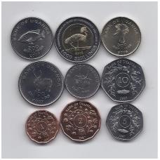 UGANDA 1987 - 2012 m. 9 monetų rinkinukas