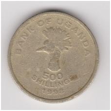 UGANDA 500 SHILLINGS 1998 KM # 69 F-VF
