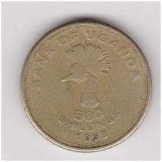 UGANDA 500 SHILLINGS 1998 KM # 69 VF
