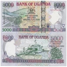 UGANDA 5000 SHILLINGS 2008 P # 44c UNC