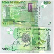 UGANDA 5000 SHILLINGS 2015 P # 51 UNC
