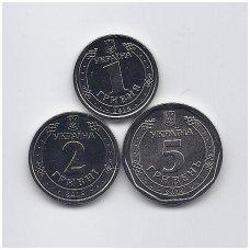 UKRAINA 2018 - 2019 m. 3 monetų rinkinys