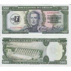 URUGVAJUS 0.50 NUEVO PESO 1975 P # 54 UNC