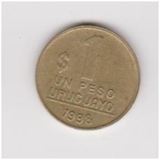 URUGVAJUS 1 PESO 1998 KM # 103.2 VF